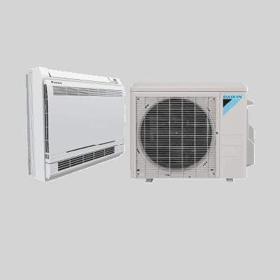 Daikin AURORA™ Floor Mount single-zone heat pump.