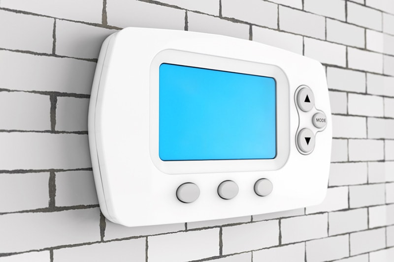Blank thermostat with a blue screen   Why Is My Thermostat Blank?   HVAC Service   Port Ochard, WA