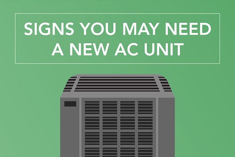 air conditioner replacement on green background
